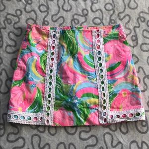 Lilly Pulitzer Pansy Lace Skirt